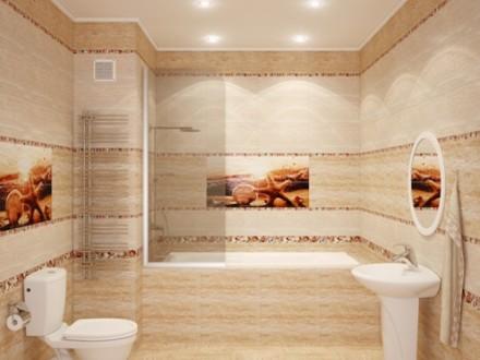 Коллекционная плитка в ванной комнате